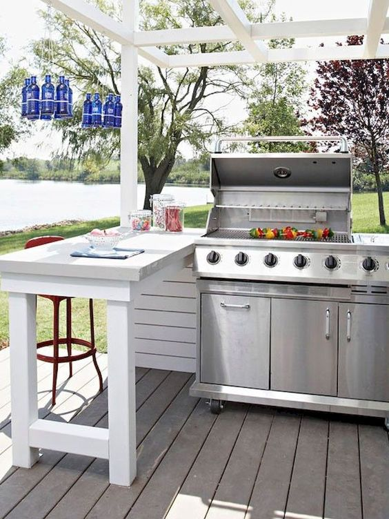 Backyard Grill Ideas: Farmhouse Grill Station