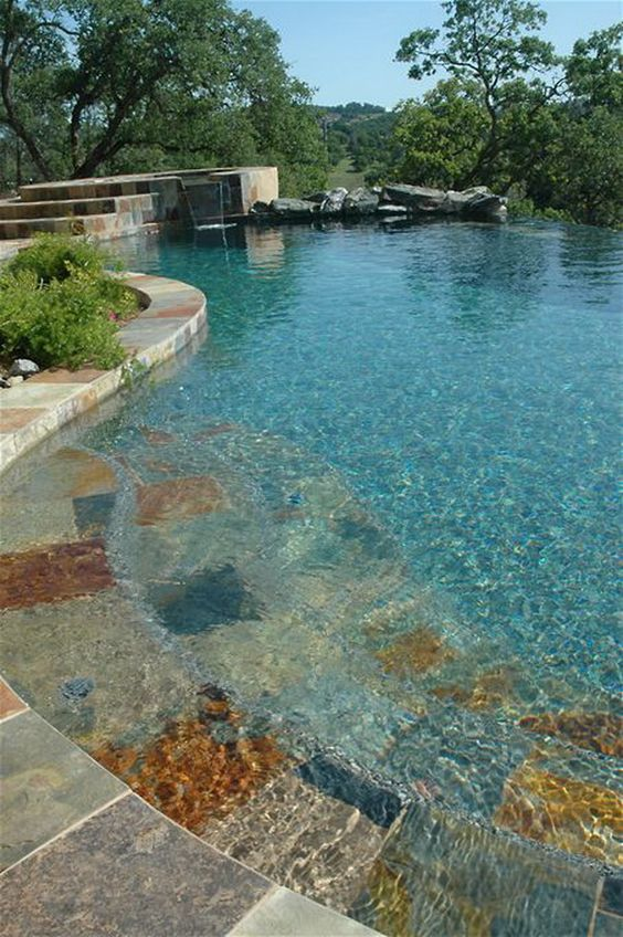 beach entry swimming pool ideas 11