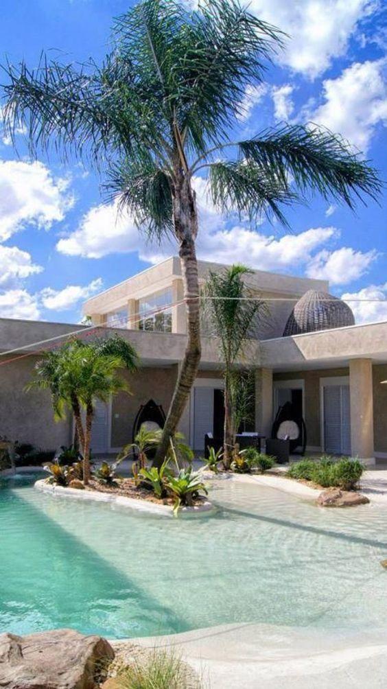 beach entry swimming pool ideas 20