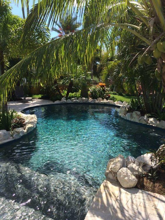 beach entry swimming pool ideas 4