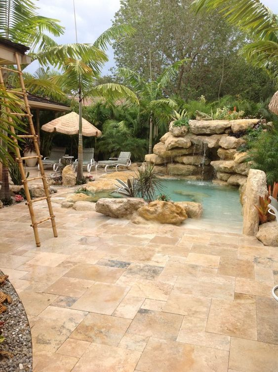 beach entry swimming pool ideas 5