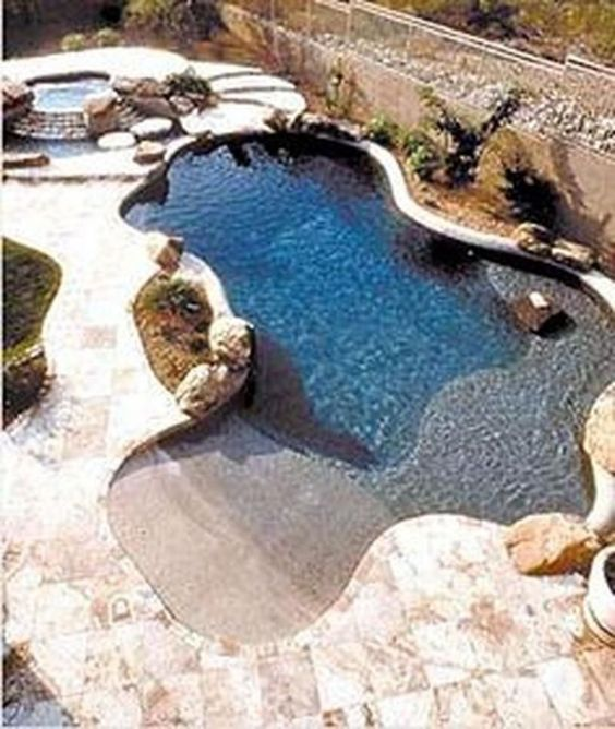 beach entry swimming pool ideas 6