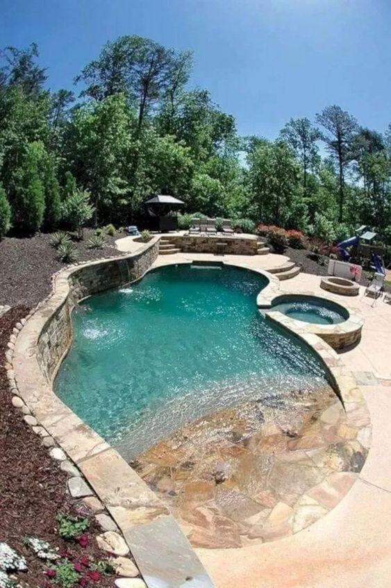 beach entry swimming pool ideas 8