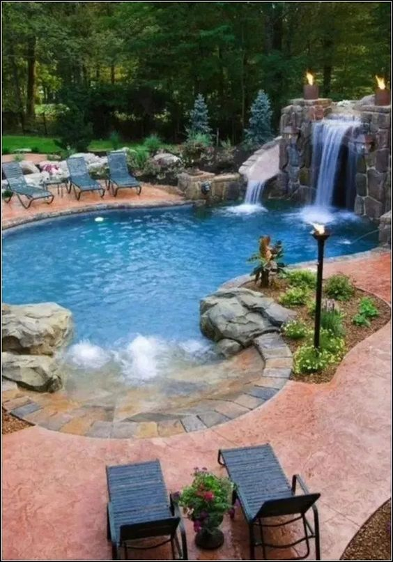 beach entry swimming pool ideas 9