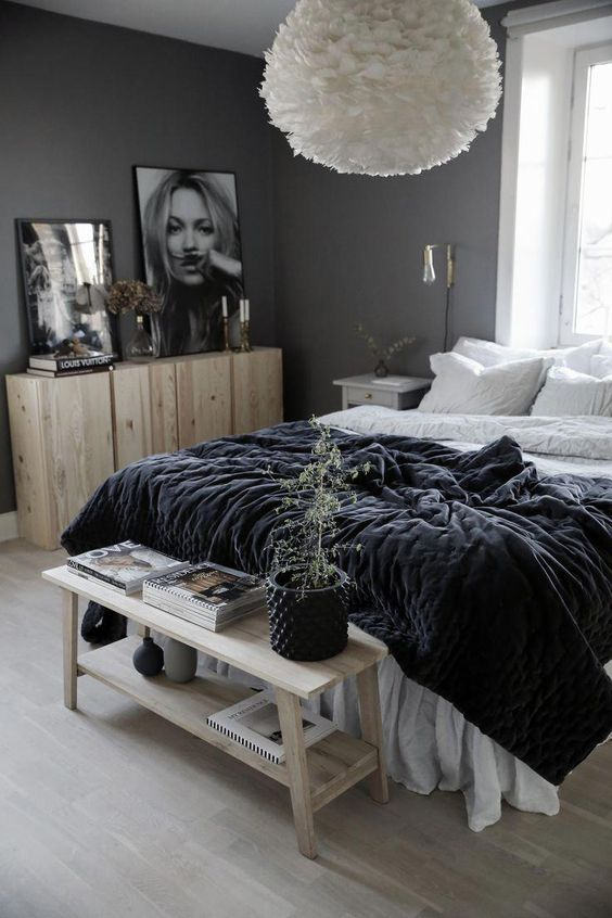 Bedroom Colors Ideas: Clean Monochrome