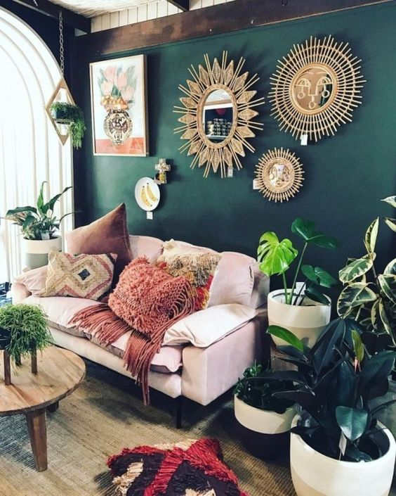 Bohemian Living Room Ideas: Add Obvious Wall Decor Items
