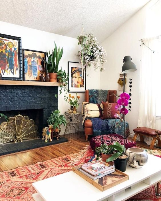 bohemian living room ideas 10