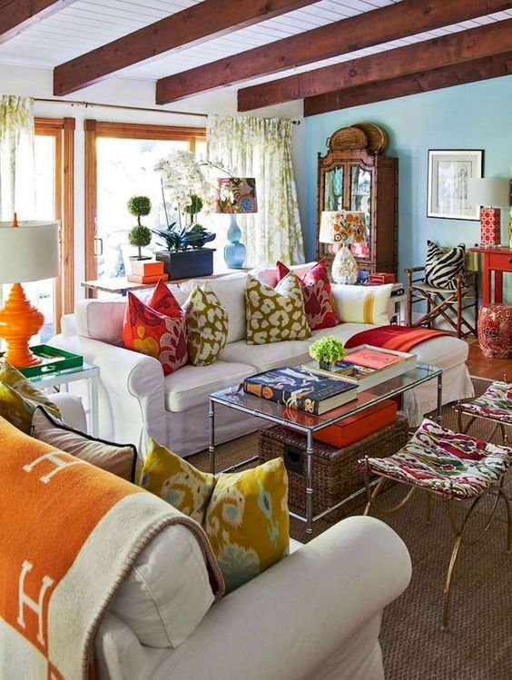 bohemian living room ideas 11