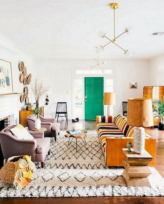 bohemian living room ideas 12