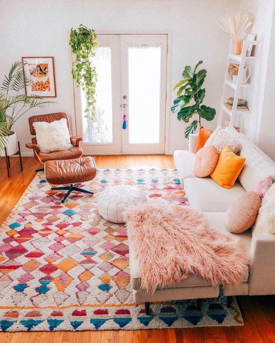 bohemian living room ideas 13