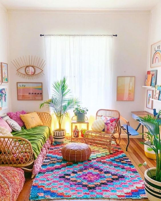 bohemian living room ideas 14