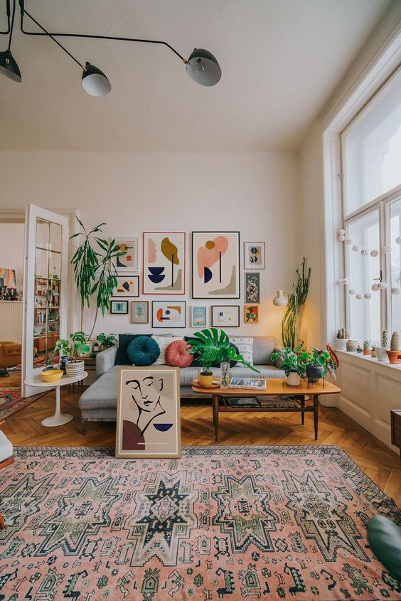 bohemian living room ideas 15