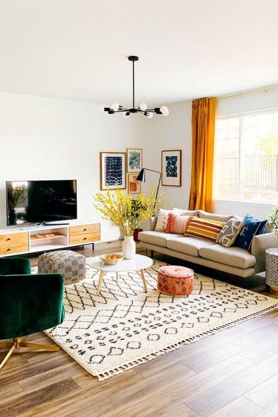 bohemian living room ideas 16