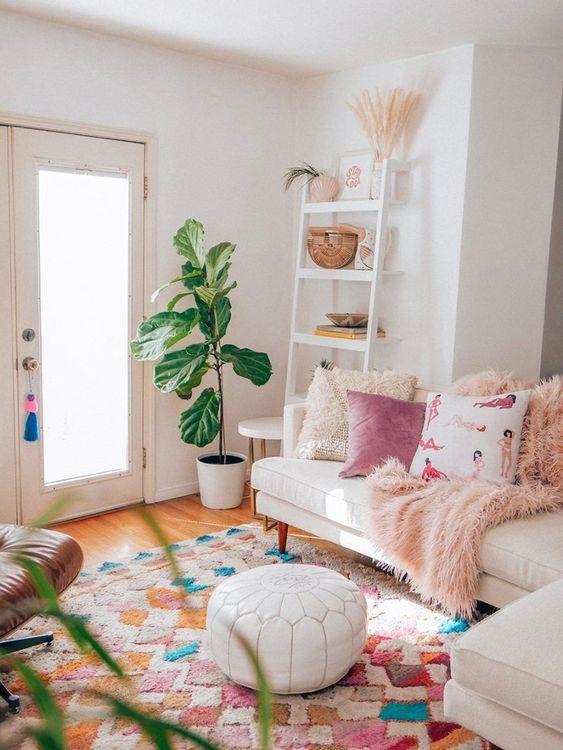 bohemian living room ideas 17