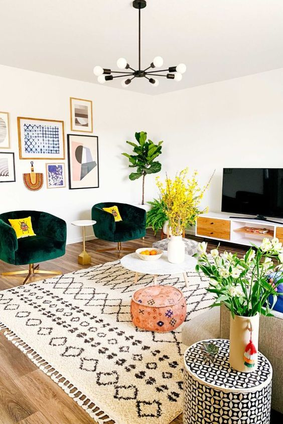 bohemian living room ideas 18