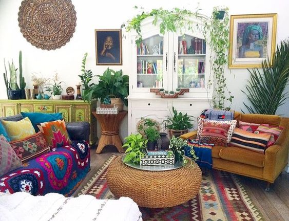 bohemian living room ideas 21