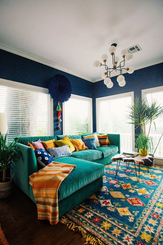 Bohemian Living Room Ideas: Give a Focal Point