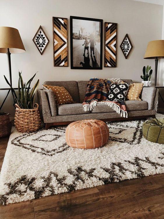 bohemian living room ideas 5