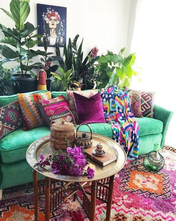 bohemian living room ideas 6