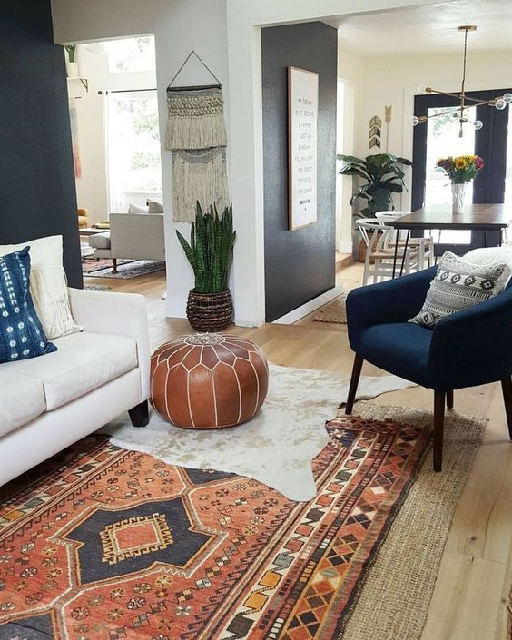 bohemian living room ideas 8