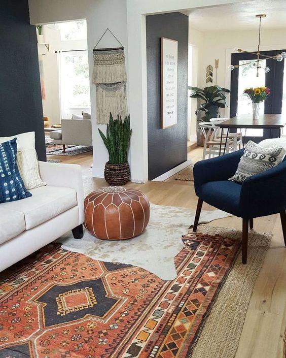 bohemian living room ideas 8
