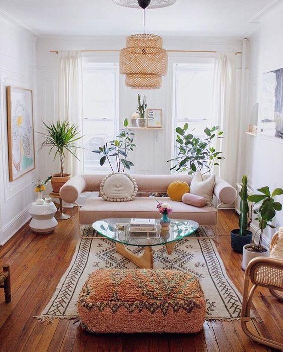 bohemian living room ideas 9