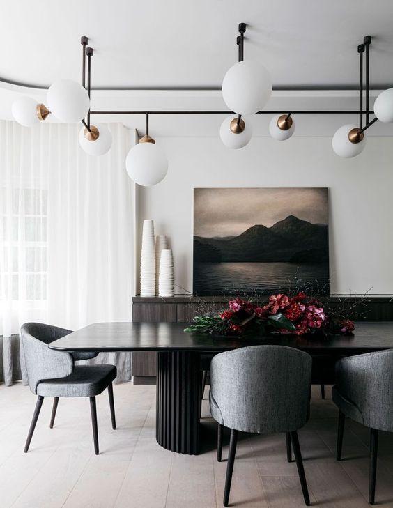 Elegant Dining Room Ideas: Elegant Monochromatic