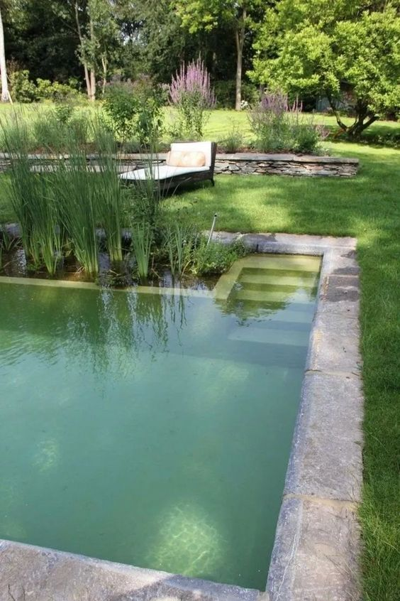 Natural Swimming Pool Ideas: Combine Them