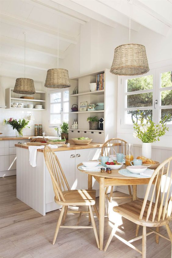Open Kitchen Ideas: Earthy Open Kitchen