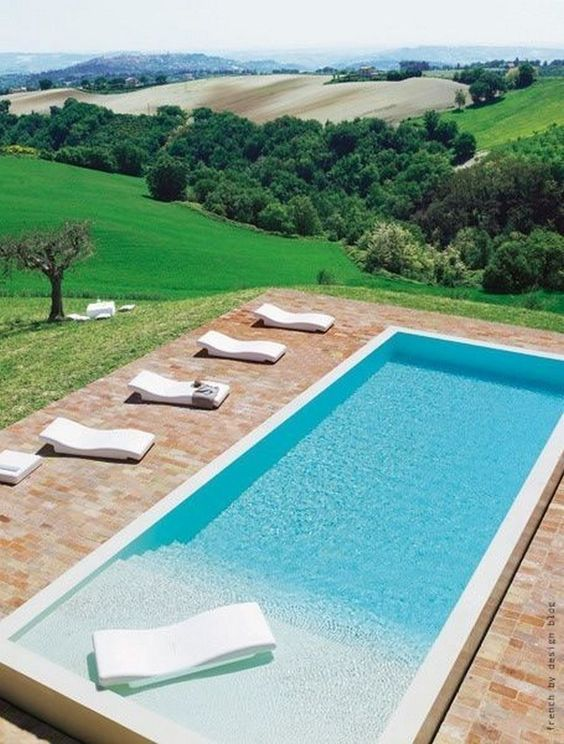 rectangular swimming pool ideas 16