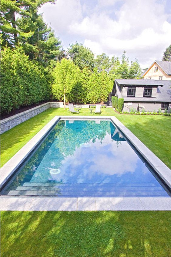 rectangular swimming pool ideas 17