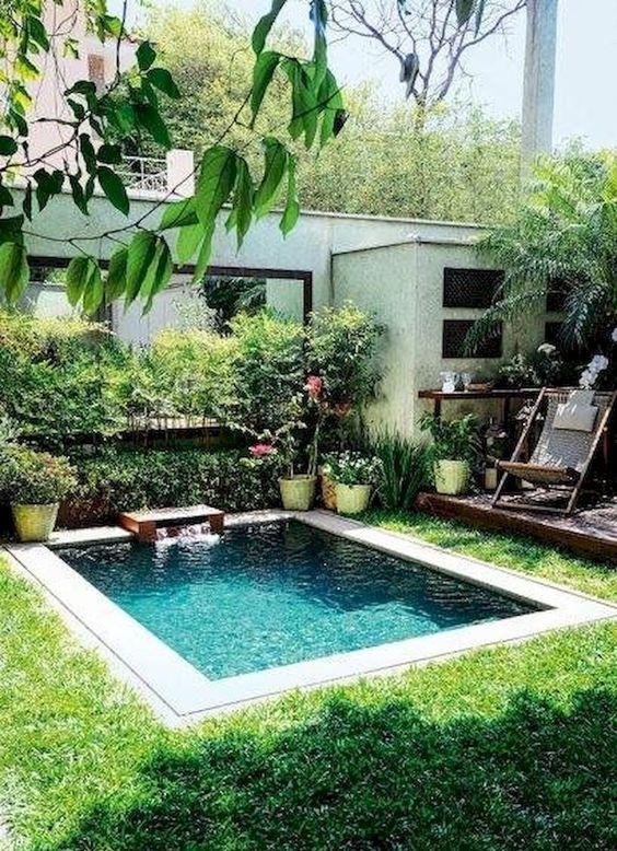 Swimming Pool Backyard Ideas: Fresh Pool Garden