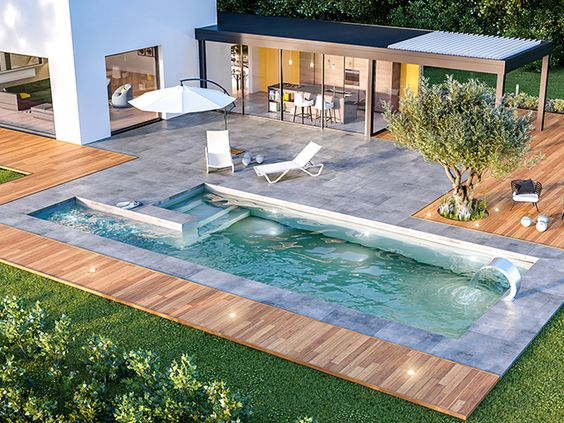 swimming pool backyard ideas feature
