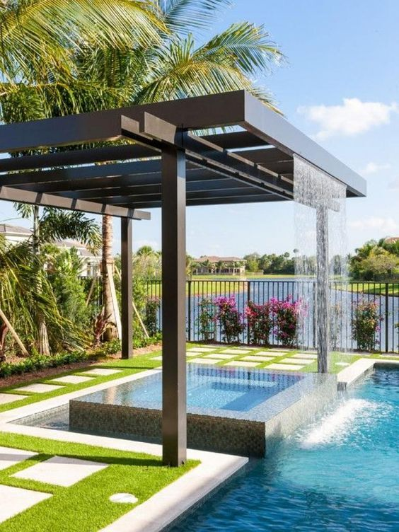 Swimming Pool Waterfall Ideas: Show It Off