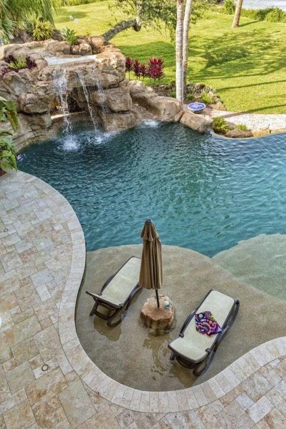 swimming pool waterfall ideas 10