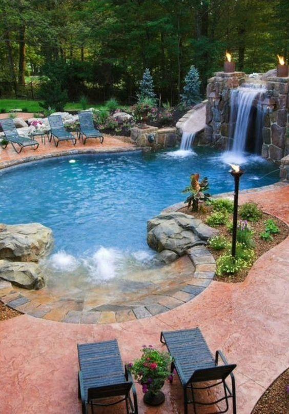 swimming pool waterfall ideas 11
