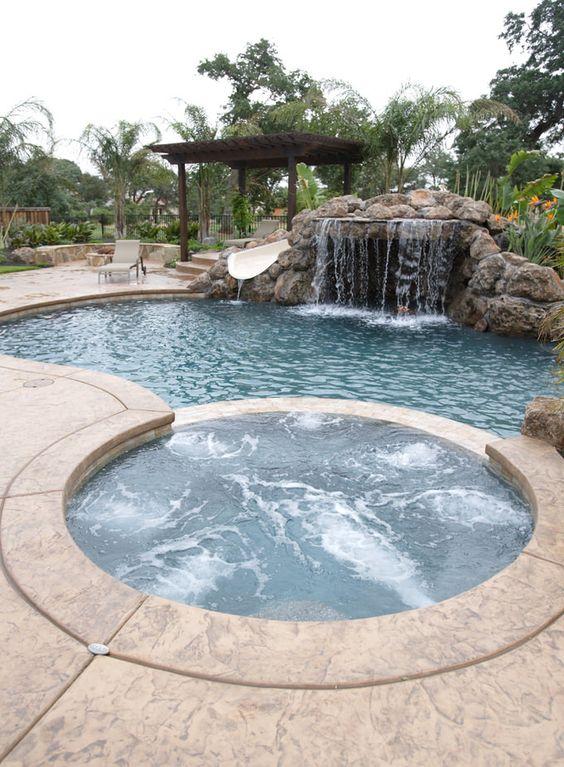 swimming pool waterfall ideas 12