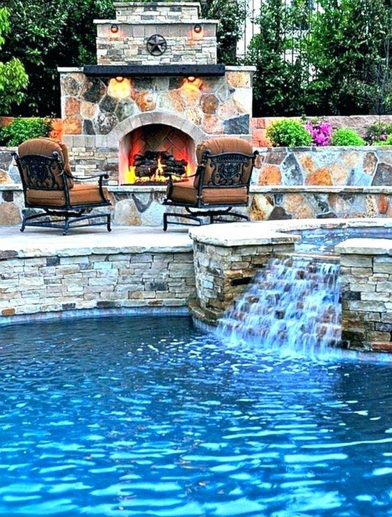 swimming pool waterfall ideas 14