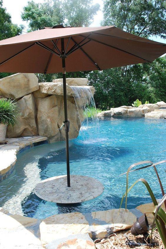 swimming pool waterfall ideas 15