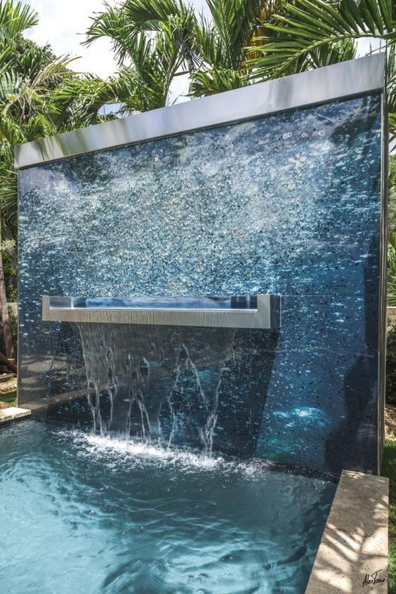 swimming pool waterfall ideas 16