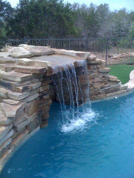 swimming pool waterfall ideas 17