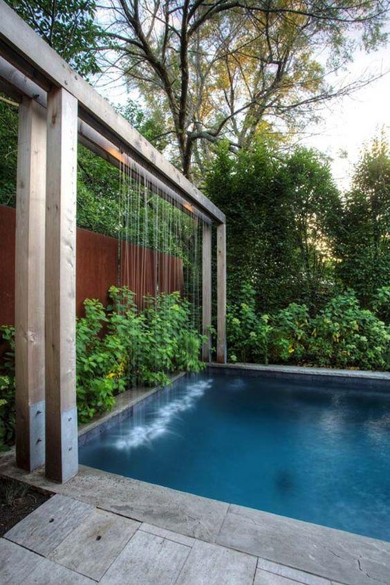 swimming pool waterfall ideas 18