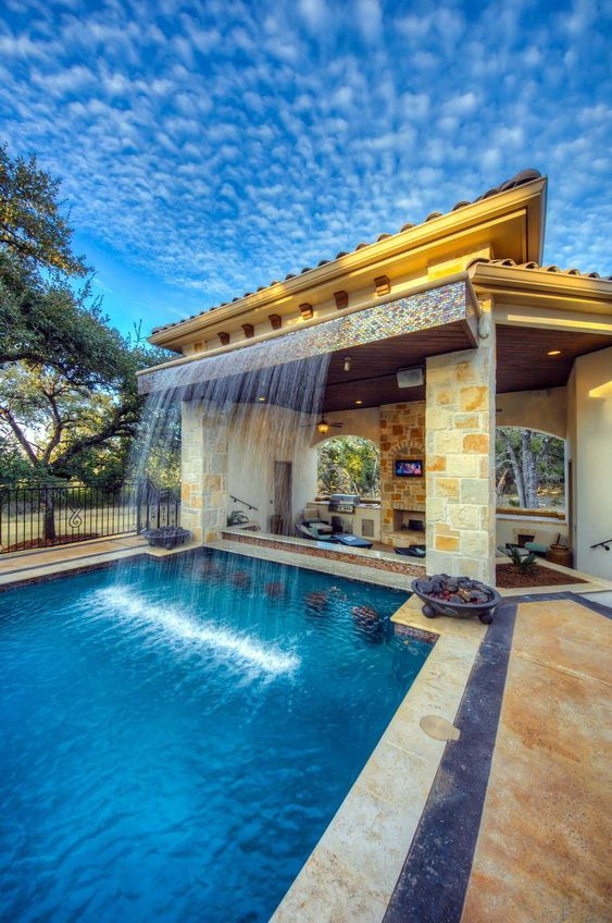 Swimming Pool Waterfall Ideas: Build An Extraordinary One