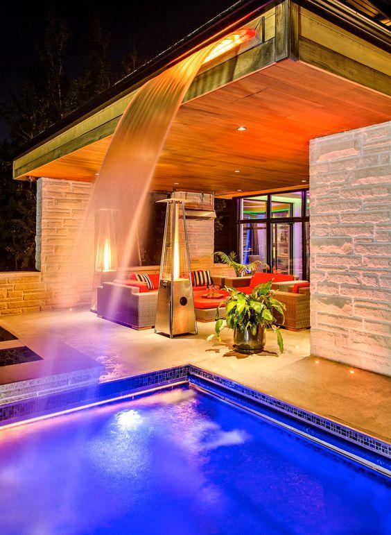 swimming pool waterfall ideas 4