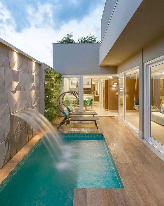 swimming pool waterfall ideas 5