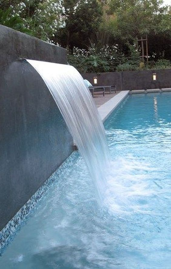 swimming pool waterfall ideas 7