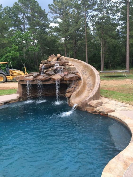 swimming pool waterfall ideas 8
