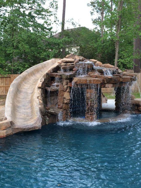 swimming pool waterfall ideas 9