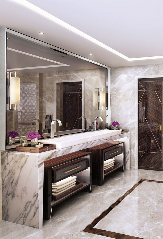 Bathroom Lighting Ideas: Simple Golden Lighting