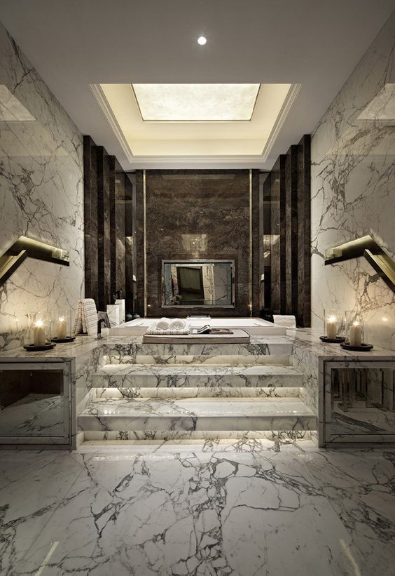 Bathroom Lighting Ideas: Marvelous Shining Marble